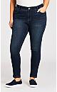 Plus Size Beauty Skinny Leg Jean Dark Wash - average