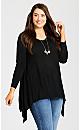 Plus Size Ariel Tunic Sweater - black