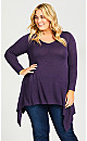 Plus Size Ariel Tunic Sweater - plum