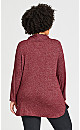Plus Size Hacci Cowl Hoodie - pink