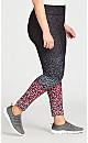 Plus Size Legging Animal Print Black - average