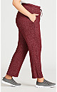Plus Size Hacci Pant - pink