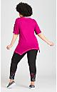 Plus Size Multi Camo Pant - pink