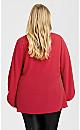 Plus Size Jayda Zip Top - raspberry