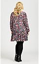 Plus Size Jolie Dress - navy floral