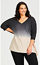 Plus Size Bree Ombre Sweater - oatmeal