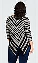 Plus Size Jamie Stripe Top - black