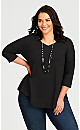 Plus Size Tammy Top - black
