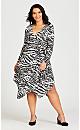 Plus Size Sofia Wrap Dress - animal
