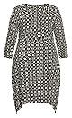 Plus Size Sofia Wrap Dress - black tile