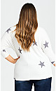 Plus Size Star Top - ivory