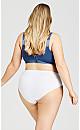 Plus Size Cotton Fashion Bra - navy
