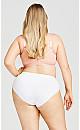 Plus Size Cotton Fashion Bra - pink