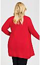 Plus Size Lillian Longline Cardi - ruby