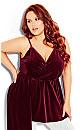 Plus Size Velvet Love Top - ruby