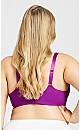 Plus Size Plunge Fashion Bra - violet
