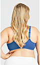 Plus Size Smooth Caress Fashion Bra - sea blue