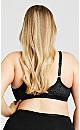 Plus Size Soft Caress Lace Bra - black