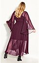 Plus Size Fleetwood Maxi Dress - plum