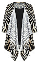 Plus Size Tiarne Duet Top - zebra