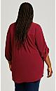 Plus Size Piper Shirt - cerise