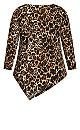 Plus Size Erica Top - leopard