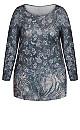 Plus Size Evie Hacci Top - blush print