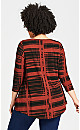 Plus Size Rayna Top - red