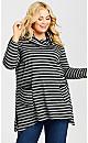 Plus Size Ana Tunic - black
