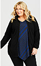 Plus Size Bonnie Tunic - cobalt