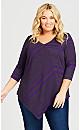 Plus Size Bonnie Tunic - purple