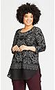 Plus Size Eden Tunic - black scarf
