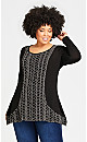 Plus Size Ellery Tunic - black