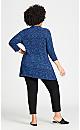 Plus Size Ellis Tunic - blue