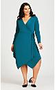 Plus Size Sofia Plain Dress - teal