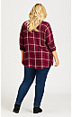 Plus Size Kylee Check Shirt - berry