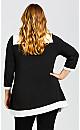 Plus Size Bella Tunic - black