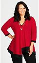 Plus Size Bella Tunic - red