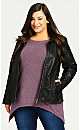 Plus Size Cassidy Hacci Tunic - berry
