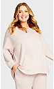 Plus Size High Low Lounge Top - pink
