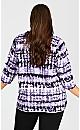 Plus Size Sweat Top - lilac tie dye