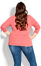 Plus Size Boat Neck Top rose