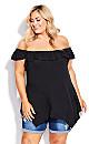 Plus Size Serena Tunic - black