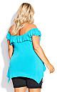 Plus Size Serena Tunic - turquoise