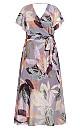 Plus Size Paradise Palm Dress - mauve