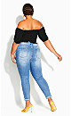 Plus Size Sweetly Shirred Top - black
