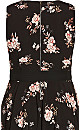 Imperial Floral Dress - black