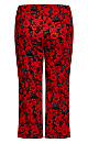 Plus Size Roses Pant - red