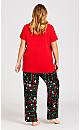 Plus Size Sing Sleep Set - red