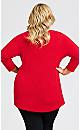 Plus Size Tegan Top - red
